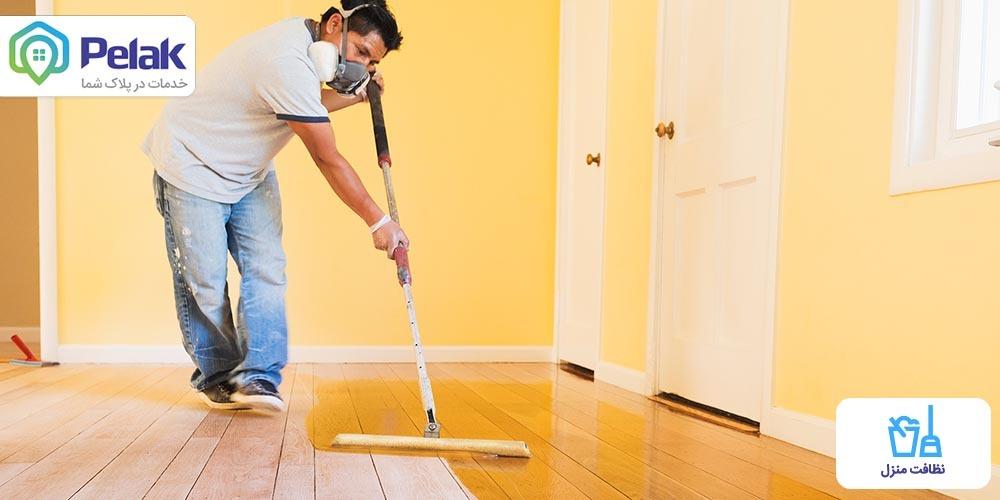 آموزش تمیز کردن روغن و چربی از کف آشپزخانه